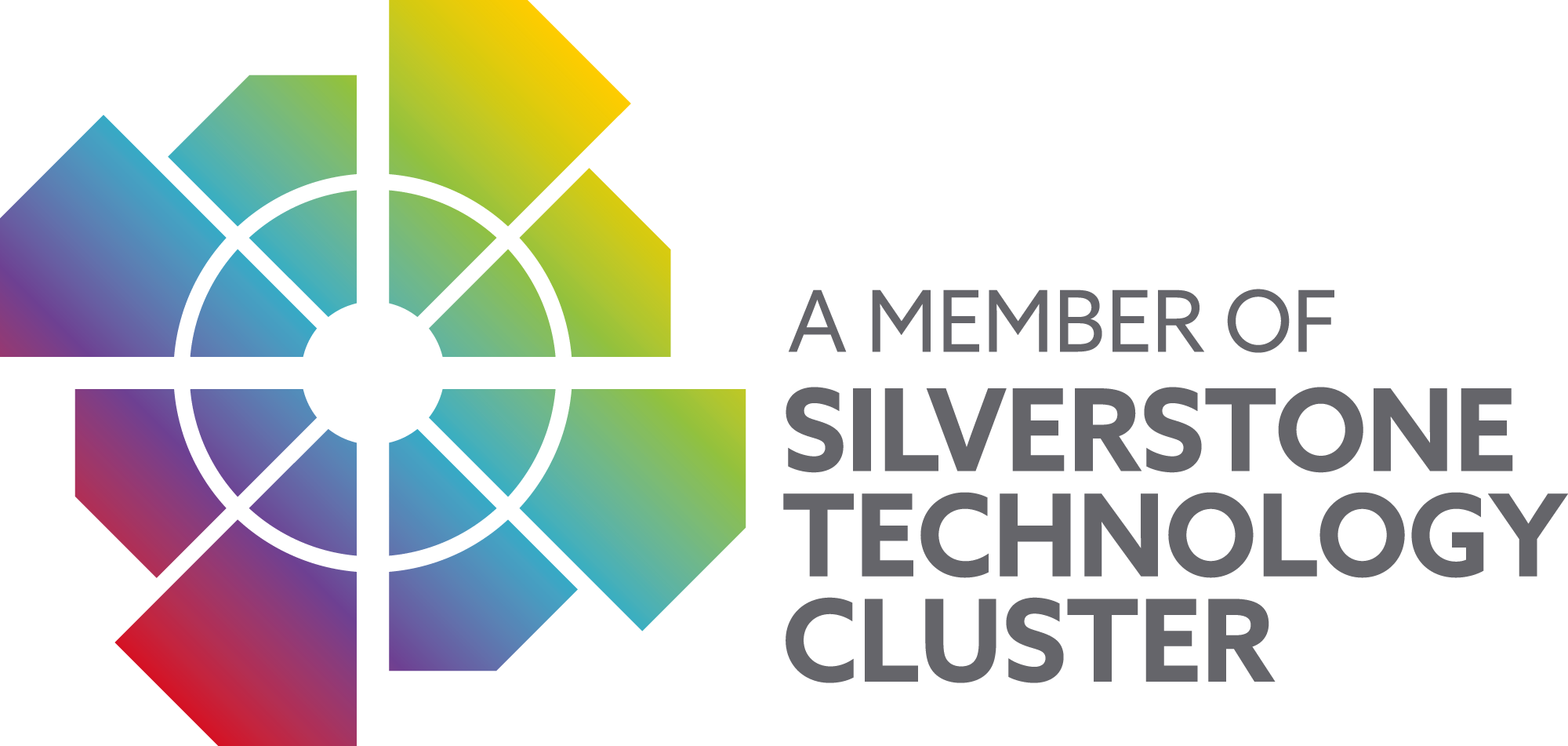 Silverstone Technology Cluster logo - a vibrant cluster at the heart of the oxford-cambridge corridor